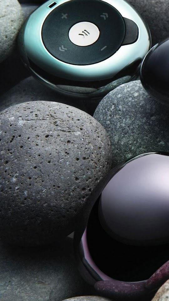 Galaxy Note HD Wallpapers: MP3 Player Pebbles Music