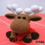 patron gratis alce amigurumi, free amigurumi pattern moose