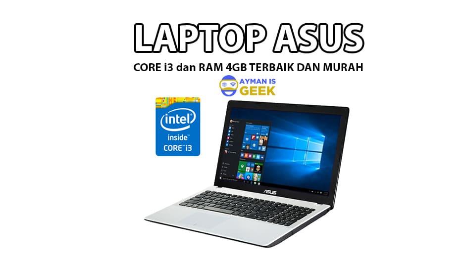 5 Laptop ASUS Core i3 dengan RAM 4GB Terbaik