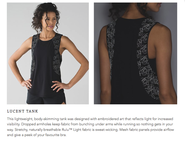 lululemon lucent-tank