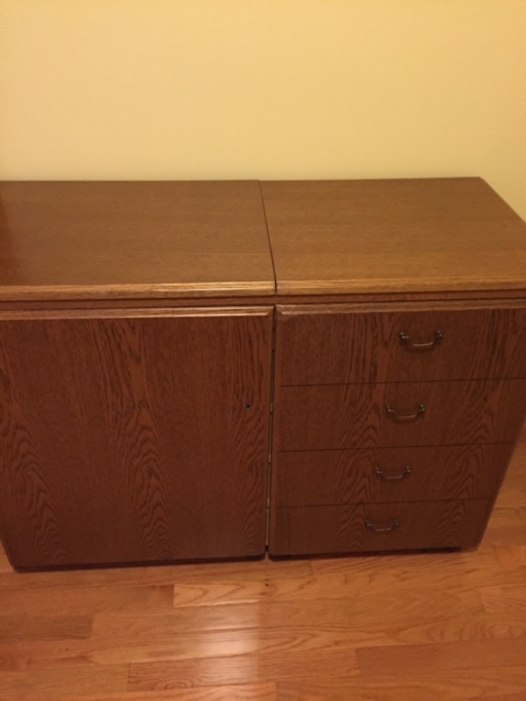 country school quilters horn sewing cabinet for sale. Black Bedroom Furniture Sets. Home Design Ideas