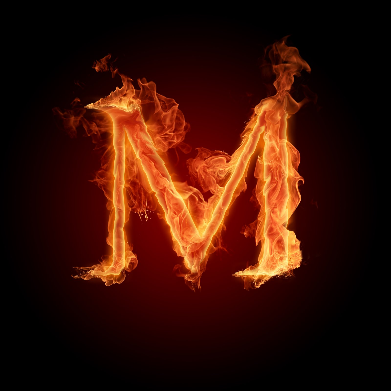 i letter in fire - photo #16