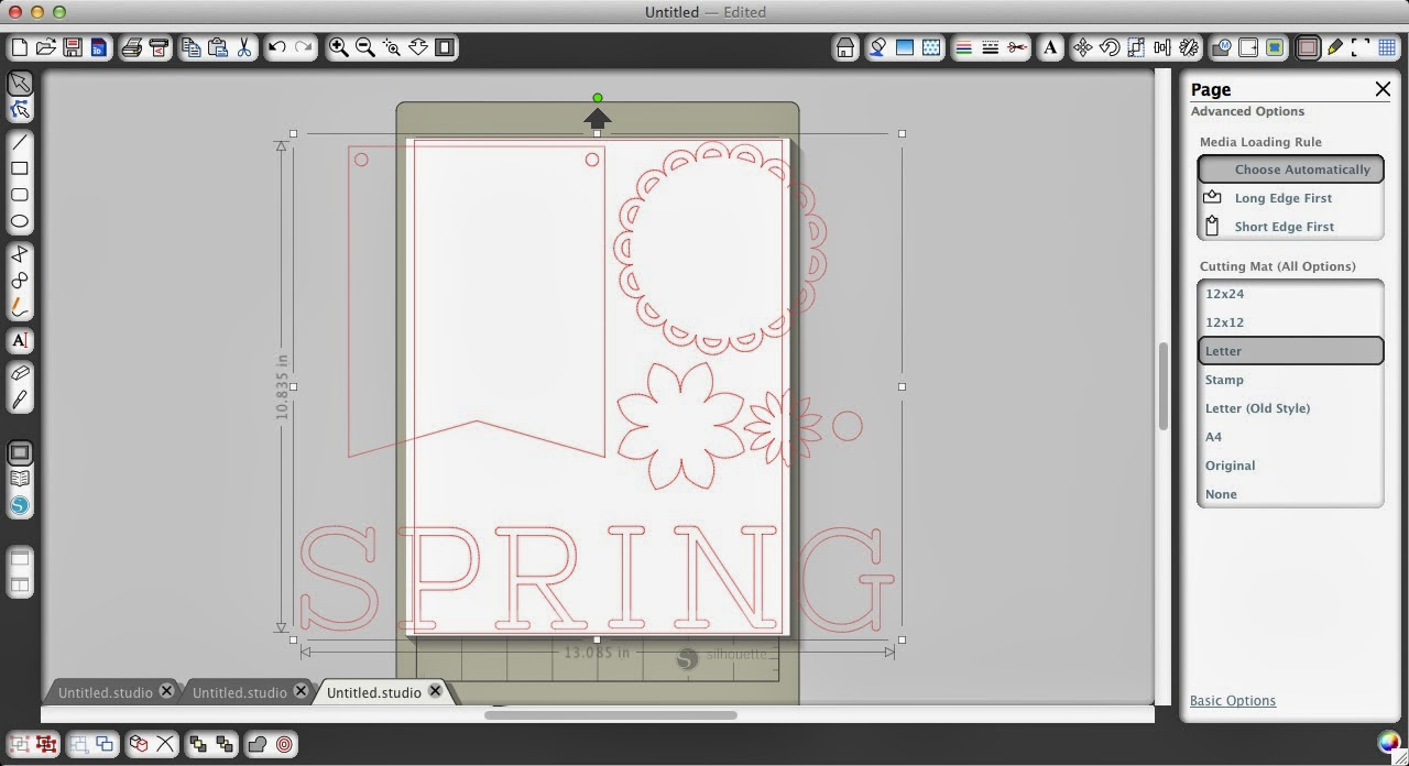 Spring, flowers, paper, banner, Silhouette Studio, Silhouette tutorial