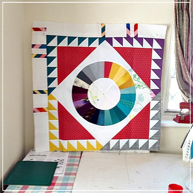 Puppilalla, round robin quilt, modern quilt, quilt borders