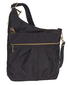 Travelon Anti-Theft Signature 3 Compartment Crossbody (One_Size, BLACK W/TEAL LINING)