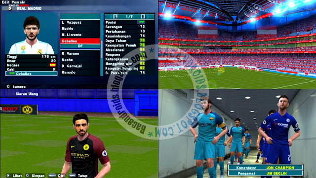 Link Download PES2018 ISO Compress Update Mod Patch Texture dan Savedata For PPSSPP Android/PC: