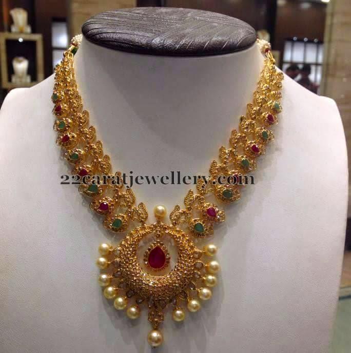 Mango Necklacein New Pattern Jewellery Designs