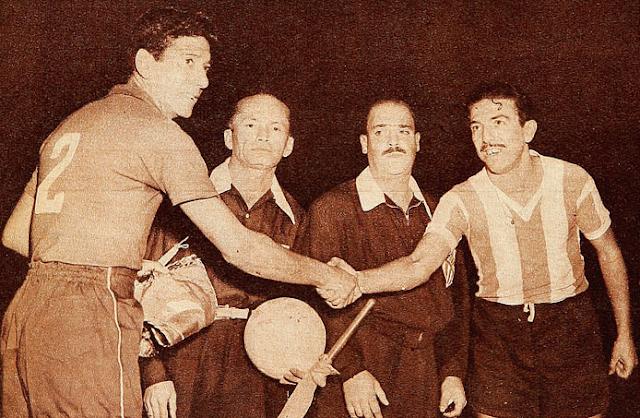 Chile y Argentina en Campeonato Sudamericano de 1955