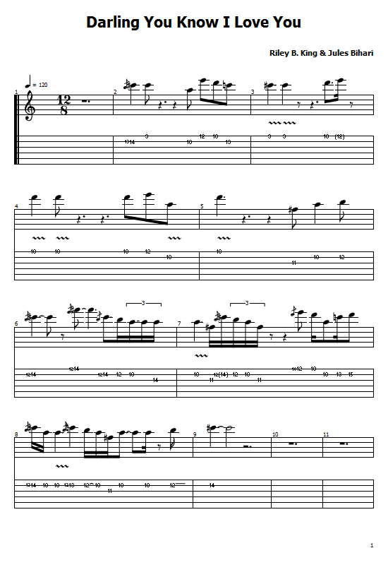 Darling You Know I Love You Tabs B.B. King - How To Play B.B. King On Guitar Tabs & Sheet Online