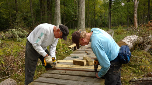 repairing boardwalk