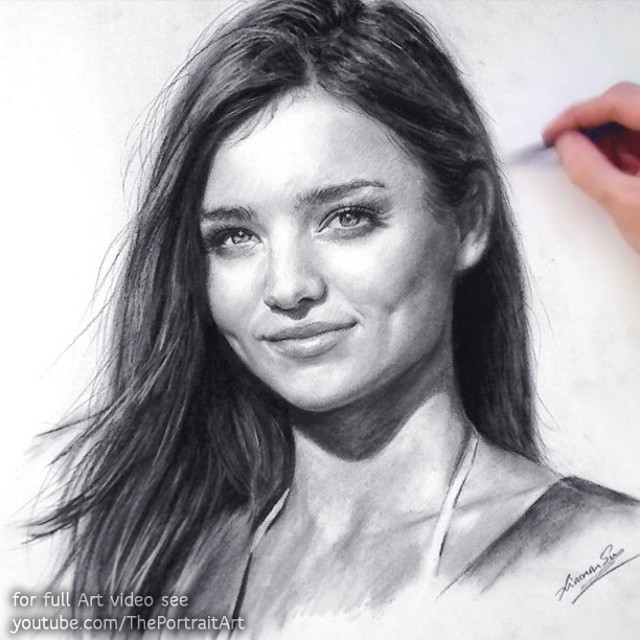 06-Miranda-Kerr-Xiaonan-Pencil-Charcoal-and-Pastel-Portrait-Drawings-www-designstack-co