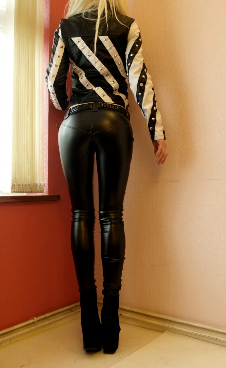 Tight leather ass