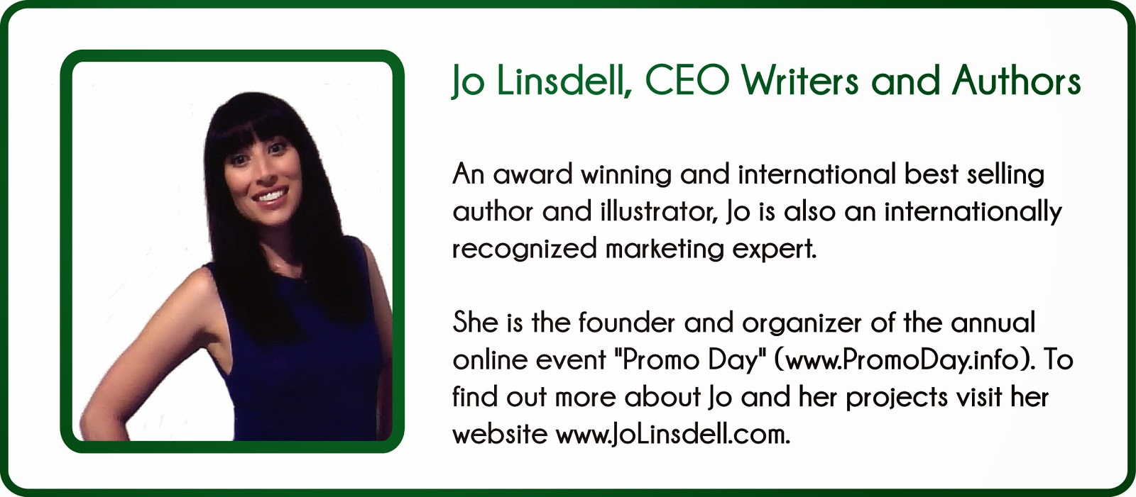 Jo Linsdell, CEO Writers and Authors, author bio