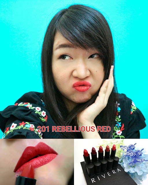 Rivera Absolute Matte Lipstick 201 Rebellious Red