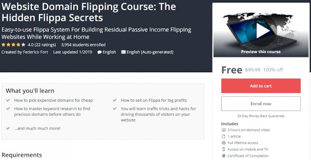 [100% Off] Website Domain Flipping Course: The Hidden Flippa Secrets| Worth 99,99$