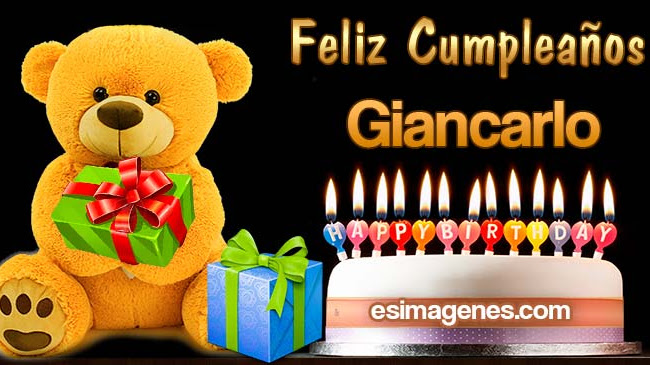 Feliz Cumpleaños Giancarlo