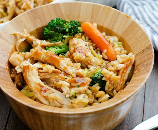 Teriyaki Chicken Casserole #Dinner #ricerecipe