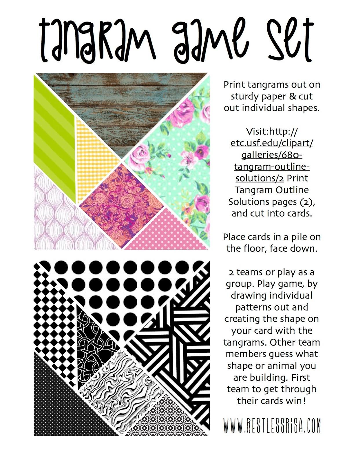 Animals Outline Solution Tangram Card #2 | Animal outline, Tangram, Pattern  block printables