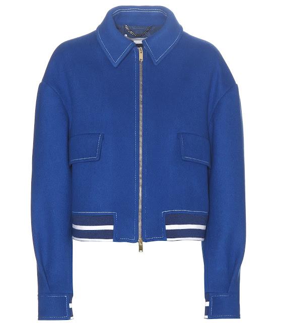 Blue retro bomber jacket