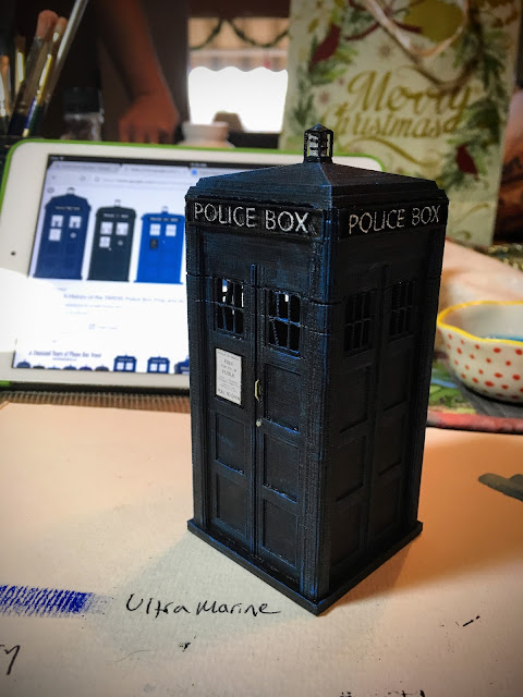 3D printed and painted TARDIS via foobella.blogspot.com