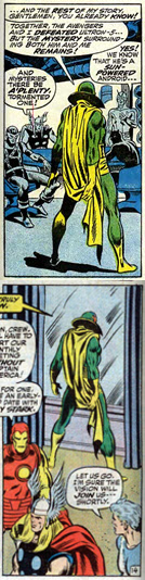 Avengers 102 Vision Rich Buckler