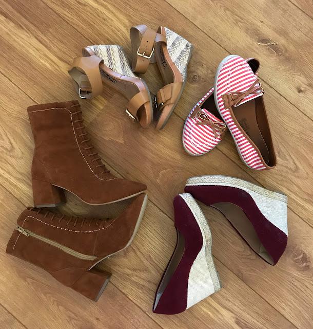 sapatos para viagem