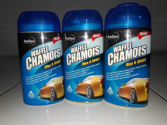 Harga lap pembersih/kanebo terbaru Waffle Chamois Helios dengan bahan yang berkualitas serta bertekstur lembut