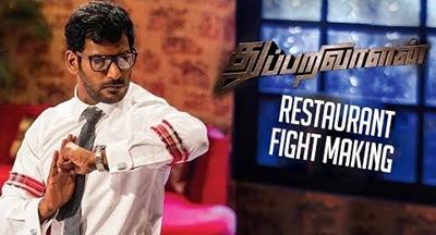 Thupparivaalan – Restaurant Fight Making | Vishal, Prasanna, Vinay, Andrea