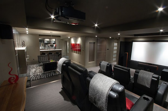 Model Desain Home Theater Minimalis