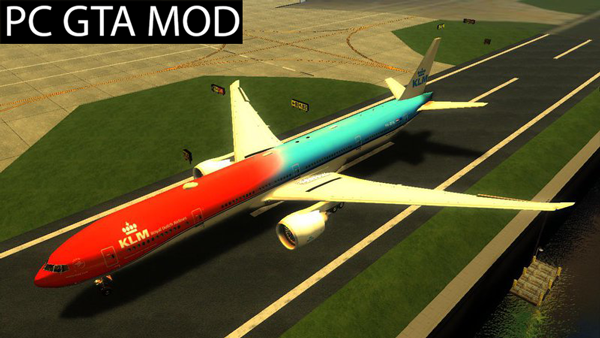Free Download KLM Orange Pride Boeing 777-300ER Mod for GTA San Andreas.