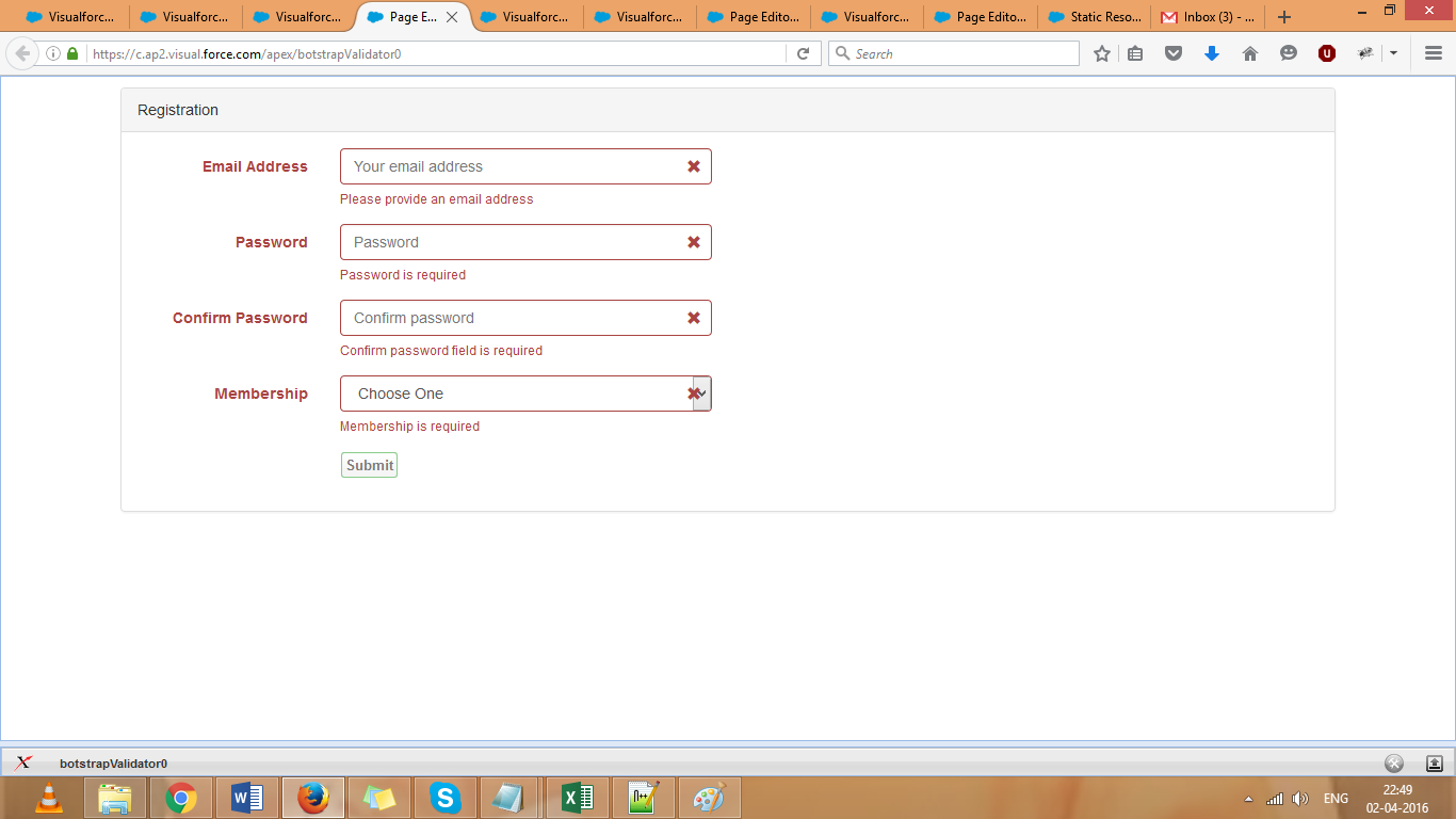 Bootstrap examples in visualforce page  ~ Salesforce Tutorials