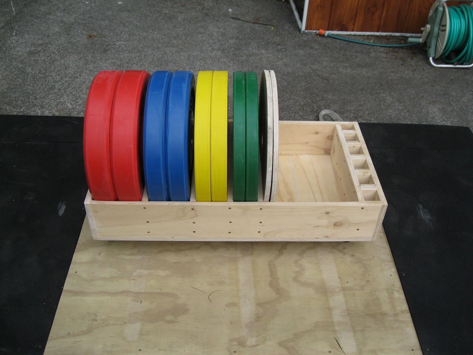 Back To Primal Rolling Bumper Plate Storage