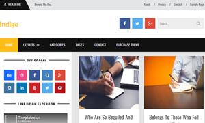 Indigo Grid Responsive Blogger Template