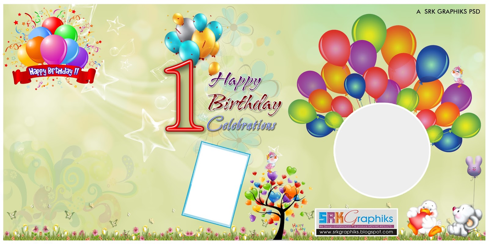 Birthday banner design photoshop template for free - SRK GRAPHICS