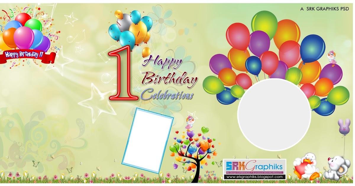 birthday banner design photoshop template for free srk graphics. Black Bedroom Furniture Sets. Home Design Ideas