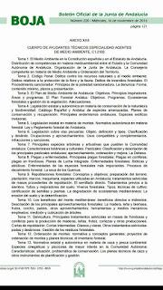 Actualizado el temario de acceso al Cuerpo de Agentes de Medio Ambiente de Andalucía