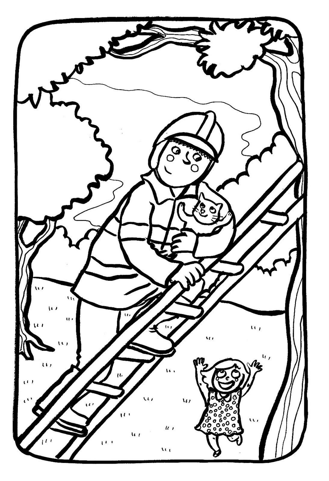 Coloriage Pompier En Ligne | Liberate