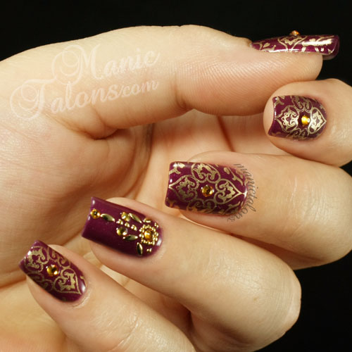 Indian Sari Manicure, IBD Just Gel Indian Sari