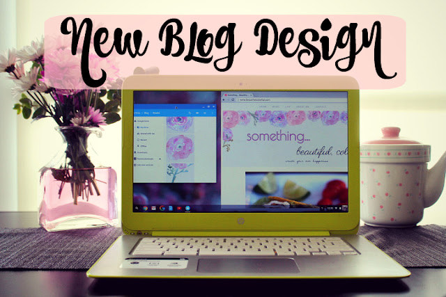 new blog design - flower blog design, blogging