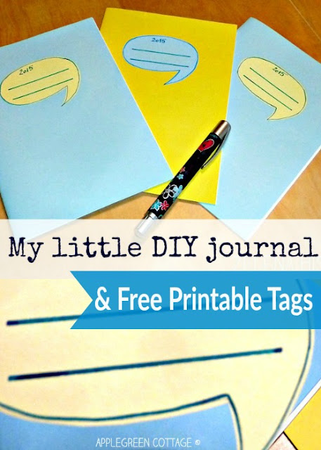 How about a homemade journal for all your new-year resolutions? Or a notebook for those yummy Christmas recipes that now lie scattered on your desk? Or a cute little notebook for your kid to doodle in, just because?