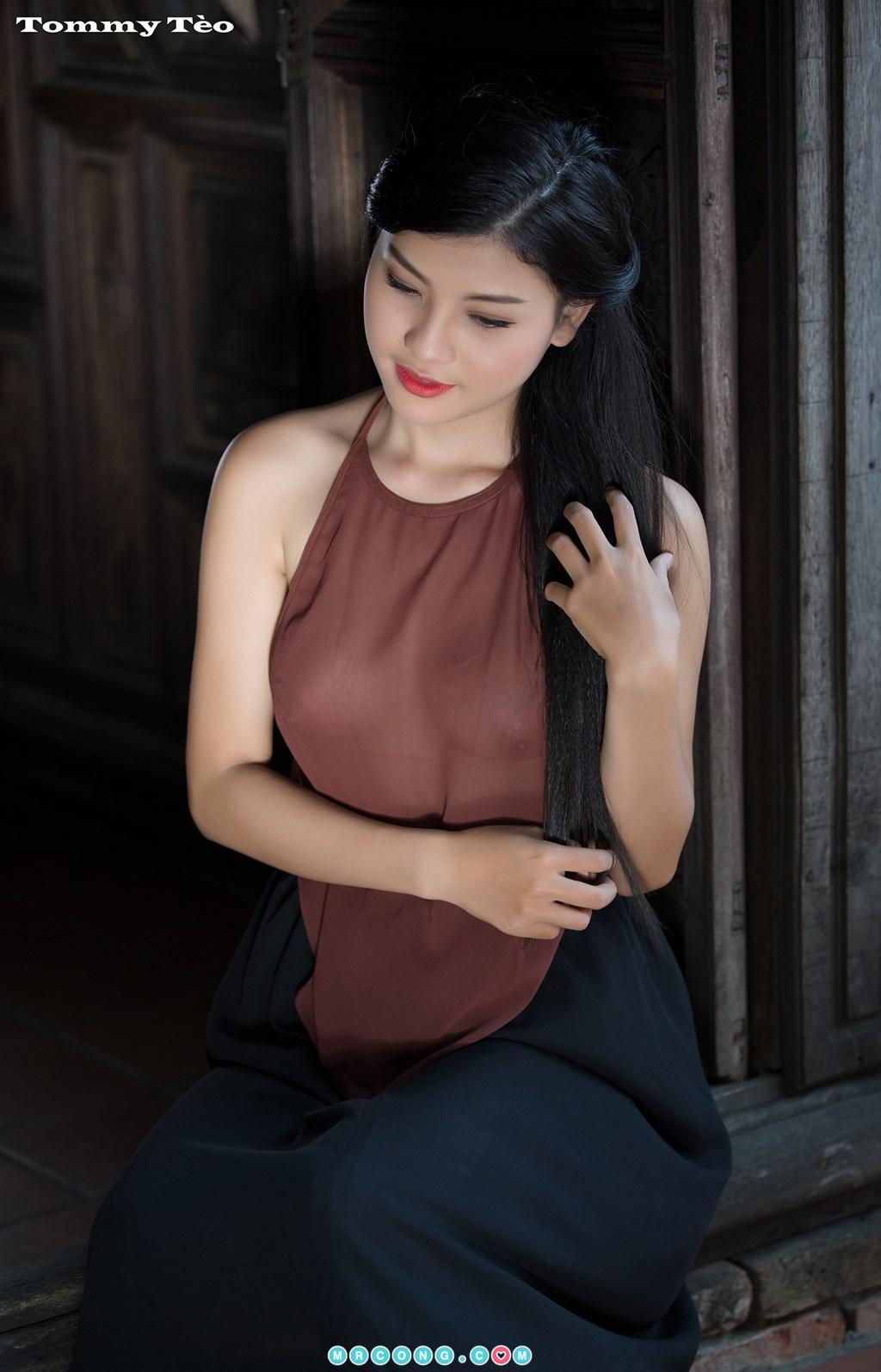 Image Nhung-Nguyen-by-Dang-Thanh-Tung-Tommy-Teo-MrCong.com-008 in post Nóng cả người với bộ ảnh thiếu nữ thả rông ngực mặc áo yếm mỏng tang (19 ảnh)