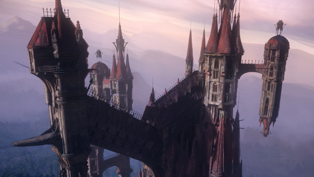 Dracula's castle, Castlevania, as depicted in the television series of the same name (Castlevania)