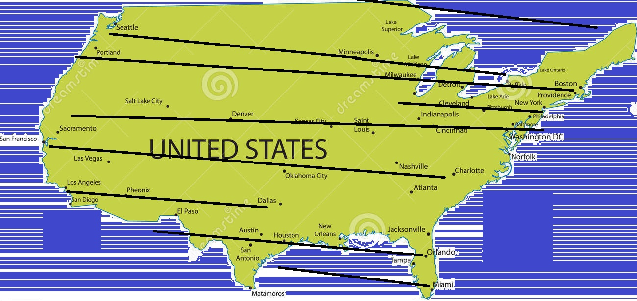map of n american big pro sports 12 longitudes of sport towns