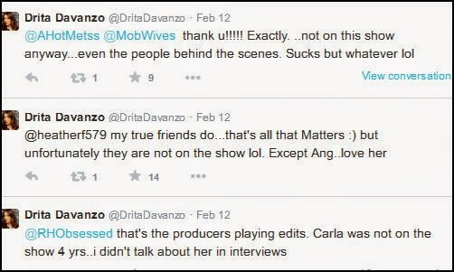 Mob Wives: Drita Tweets About Carla | M O B  Wives