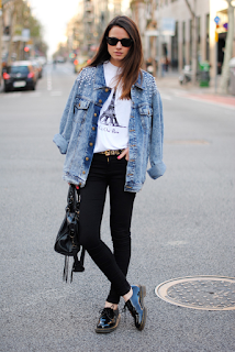 jaqueta jeans look