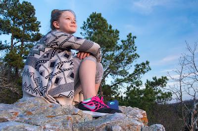 Taryn at Balanced Rock, Hot Springs National Park