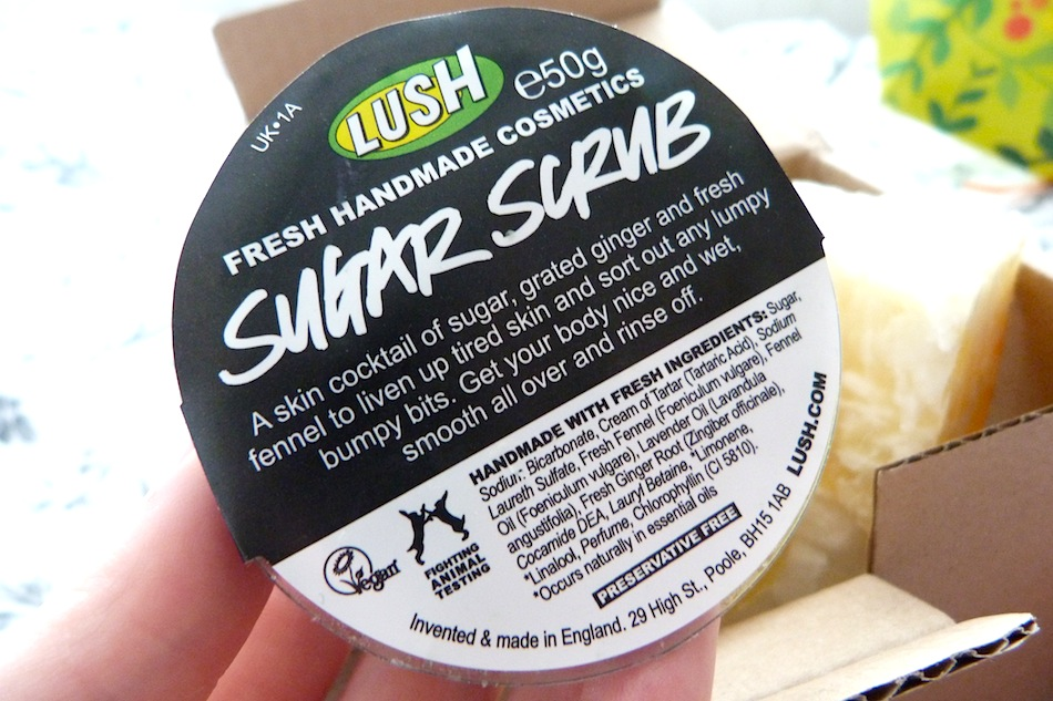 an image of a miniature lush sugar scrub