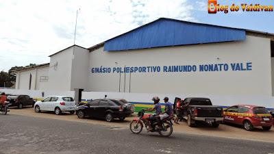 Resultado de imagem para ginásio poliesportivo raimundo nonato vale, em Chapadinha-ma