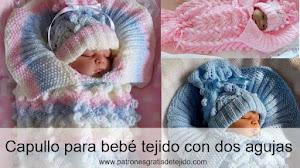 Capullo para bebé tejido con dos agujas / DIY