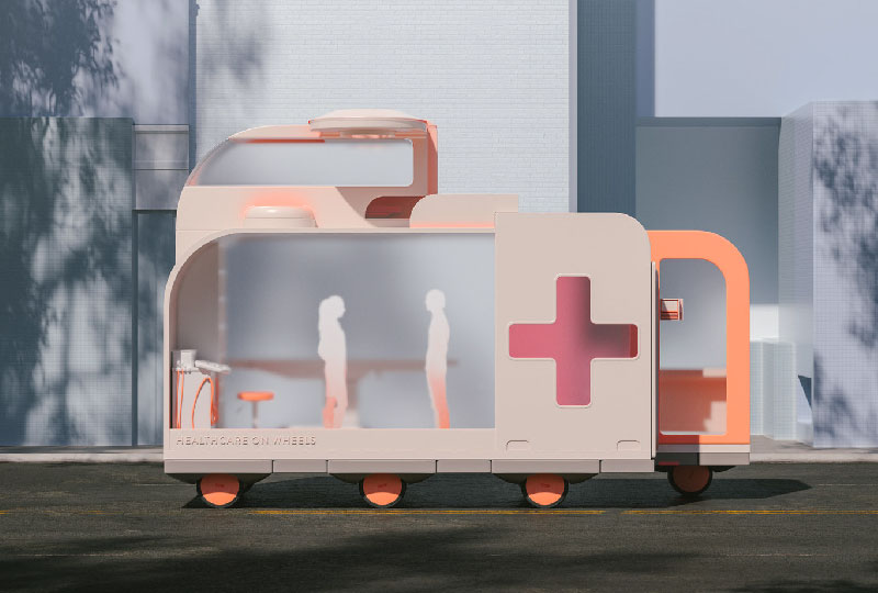 Space on Wheels HEALTHCARE di SPACE10